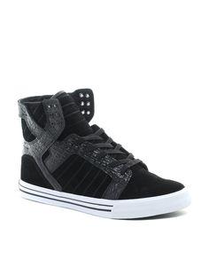 Newstylish Homme Chaussures overlaced hightongue Zipper High-top Noir Baskets