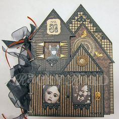 Altered Halloween Haunted House Book