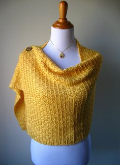 Summer's Glow - Knitted Shawl / Stole / Wrap