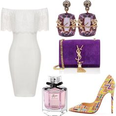 A fashion look from March 2016 by smooney019 featuring Christian Louboutin, Yves Saint Laurent, Federica Rettore and Gucci