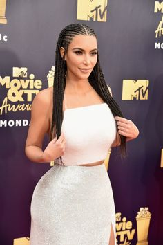 Kim Kardashian wears braids to MTV Movie   TV Awards Black Girls  Hairstyles 77fd576b4c