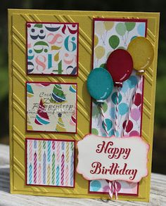 SU Birthday Basics DSP, Small Oval Punch, Owl Builder Punch, Decorative Label Punch  (Oct 7, 2013)