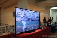 Sharp's 90-inch smart TV: hands-on with the world's largest LED TV | The Verge, and I want one 4 me hubby