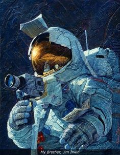 Alan Bean Art, Alan Bean Astronaut, Alan Bean Moonwalker, Alan Bean Paintings