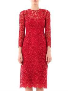 Dolce & Gabbana Red Lace Dress Lace Dress With Sleeves, Cool Style, My Style, Red Lace, Nice Dresses, Boudoir, Womens Fashion, How To Wear, Fantasy