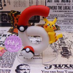 Vela decorada Pokémon - Pikachu - Paty's BIscuit