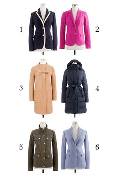 J.Crew blazers & coats & beautiful cozy things. Which one is your fav?