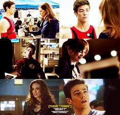 """THEIR THING """"What?  """"Nothing!""""  #Snowbarry"""