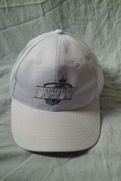 NEW Miami Heat Family White Baseball Adjustable Hat Cap Velcro #HitWear