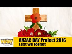 ANZAC Day Cross - Wacky Wood Works.