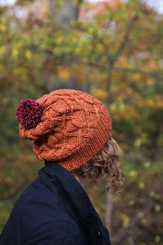 Beautiful Fall hat pattern to keep you warm this season. Find this pattern and more knitting inspiration at LoveKnitting.Com.