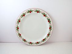 Porsgrund Porcelain Octavia Salad Plate Hearts and Pines 8""