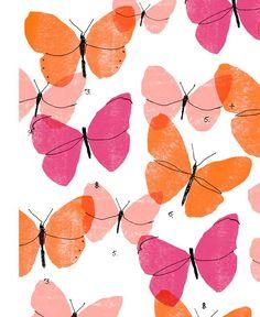 My butterfly pattern copyright Alanna Cavanagh 2015 illustration Rose Orange, Orange Butterfly, Butterfly Art, Butterflies, Orange Blush, Textures Patterns, Print Patterns, Art Papillon, Images Instagram