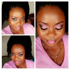 Bridal Shower. White, Blush, and Pink. Sweet and Cute Makeup. Makeup done by me