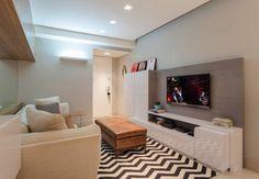 Apartamento The Falls 2 quartos: Salas multimídia Moderno por LEDS Arquitetura