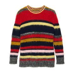 Alexachung striped mohair jumper