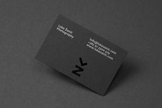 Business card with die cut detail by Studio8585 for architectural photographer Luka Žanić.