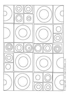 motif graphiques carrés et ronds à reproduire: