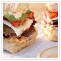 Grilled Flank Steak Sandwich Recipe w/ Sriracha Mayo  Lunch recipe  FOOD PORN Appetizer Side Dish  Snack Entrée I   RECIPES  HEALTHY  Recipes #recipes #healthy