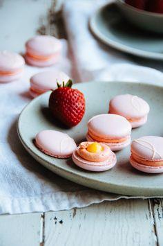 Strawberry Passion Fruit Macarons   Hint of Vanilla