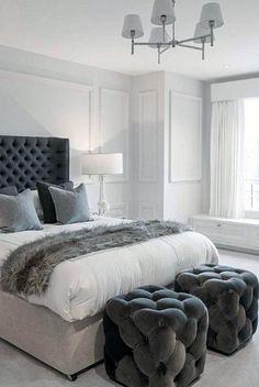Best Small Bedroom Design Ideas & Decoration for 2018 - Schlafzimmer Apartment Bedroom Decor, Bedroom Lamps, Cozy Apartment, Bedroom Furniture, Bedroom Chandeliers, Diy Bedroom, Small Chandeliers, Bedroom Storage, Dream Bedroom