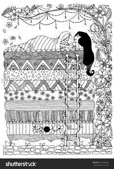 Princess and the Pea zentangle