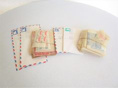Vintage Lot of Stamps 1960s First Day Covers Postcards Posted Stamps