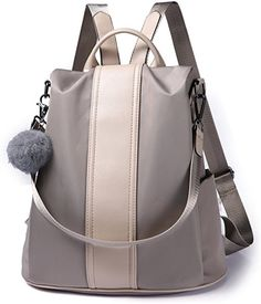 Amazon.com  Women Backpack Purse Waterproof Nylon Anti-theft Rucksack  Lightweight School Shoulder. Shoulder Bags ... 5fe7ebf88f