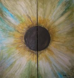 Iris II - óleo s/lienzo 81 x 76 (díptico)