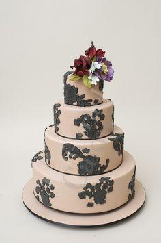 Black And Pink Wedding Cake Ron Ben Israel