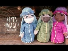 Tutorial Belén Amigurumi Part 4: Reyes Magos (Nativity English subtitles) - YouTube