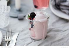 To whip up an irresistible dessert that's ideal for summer, mix creamed cheese with vanilla ice cream and frozen berries. Yum! | Photographer:Lindy Kriek | Chef, Food Stylist and Recipe Developer:Elmarie Berry Good Food