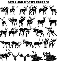 Deers and Mooses -DXF files Cut Ready CNC Designs - DXFforCNC.com,  It is magic elements of your garden and home decor. These files contain collection of 28 Deers and Mooses illustrated in decorative view and delivered in dxf files cut ready cnc designs. All our dxf designs are ready for most CNC cutting machine and designed to be cut for plasma and laser cutters and can be scaled for any other CNC machine such as water jet cutters to any size to fit your design needs.