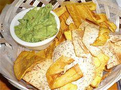 Caracas Arepas Bar - plantain chips & guac