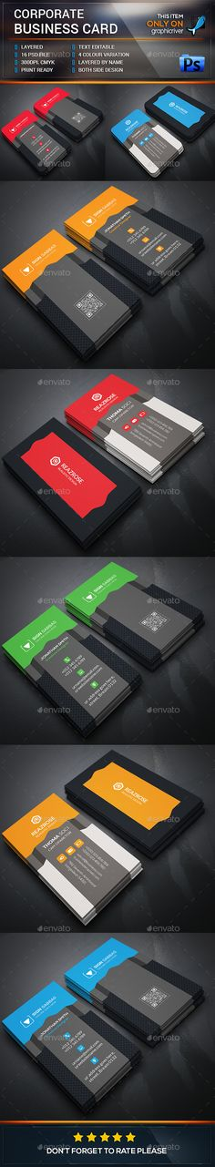 Creative Business Card Bundle - Business Cards Print Templates Download here : http://graphicriver.net/item/creative-business-card-bundle/12853337?s_rank=1688&ref=Al-fatih
