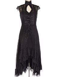 Ravaged Romance Black Hi-Lo Dress