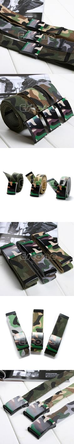 Fashion Camouflage Printed Hip-hop Graffiti Unisex Men Women Lovers Canvas Belt High Quality 3 Colors WY2703