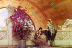 Lawrence Alma-Tadema, Unconscious Rivals, #art #alma-tadema