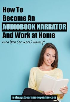 Become an audiobook narrator and work from home. We explain what you need, where to start, and the earning potential. #workfromhome #workathome #voiceover