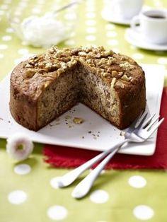 Walnuss-Esskastanien-Kuchen Rezept Cakes And More, Banana Bread, Pudding, Sweets, Cooking, Desserts, Food, Bakken, Popular Recipes