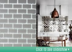 reflective/mirrored kitchen backsplash?? Actually looks kinda neat!