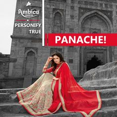 Personify true panache, with @ambicafashionsurat   -- For more details contact us on:  99799-00476 | www.ambicasurat.in #SareesInAmbica #IndianFashion #FashionWithAmbica #SareesCollection