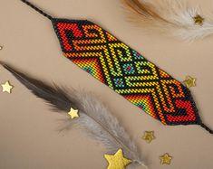Macrame Necklace, Macrame Bracelets, Willow Weaving, Gifts For My Wife, Native American Beadwork, Hippie Boho, Artisan, Beads, Reggae