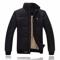 Polo Ralph Lauren Men Full-Zip Pony Padded Down Jacket Black