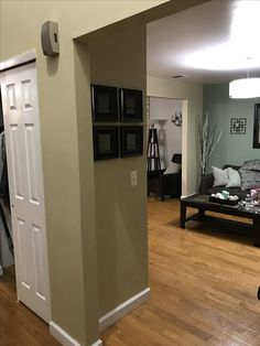 Added mirrors to wall in living room