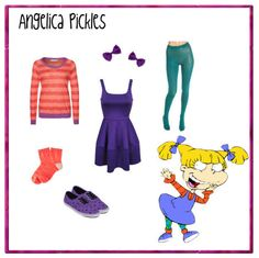 cartoons 13 Iconic Cartoon Character Outfits Recreated You are in the r. - cartoons 13 Iconic Cartoon Character Outfits Recreated You are in the right place about 90 - Rugrats Costume, Cartoon Halloween Costumes, 90s Costume, Diy Halloween, Zombie Costumes, Halloween Couples, Group Halloween, Costume Makeup, Halloween Stuff