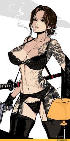 арт барышня,арт девушка, art барышня, art девушка,,красивые картинки,нижнее бельё,татуировки,оружие