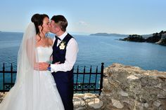 After the ceremony! Skiathos, Our Wedding, Greece, Reception, Wedding Dresses, Beach, Bridal Dresses, Bridal Gowns, Wedding Gowns