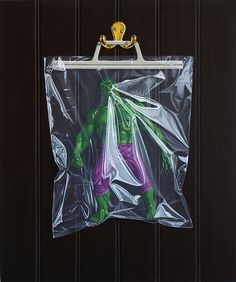 Photorealistic Trapped Superhero Paintings - My Modern Metropolis