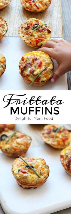 Light and fluffy egg frittata muffins with Italian peppers and cheese ready in 30 minutes! Bake in a cast iron skillet or bake them in a muffin pan for an easy quick breakfast!